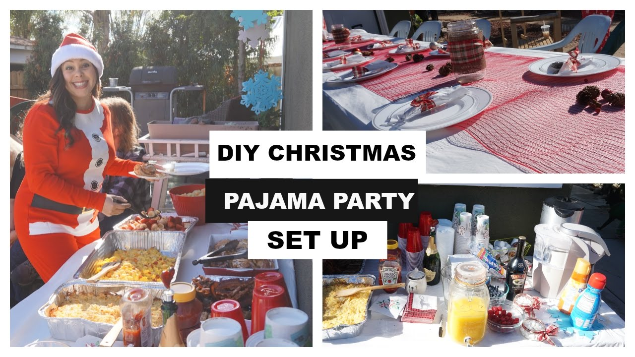 christmas pajama brunch holiday party ideas