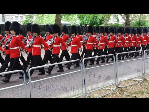 march to horseguards for trooping the colour 2016 rehearsal 25/5/16