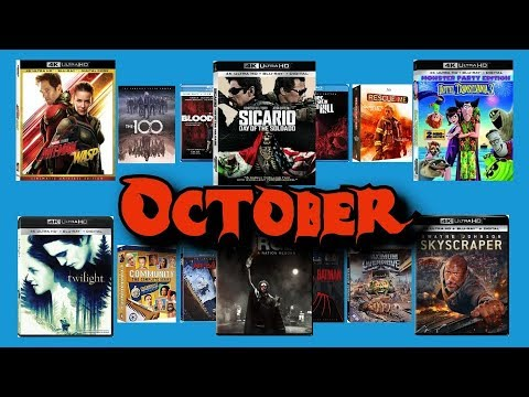 October 2018 Blu-Ray And DVD Release Preview