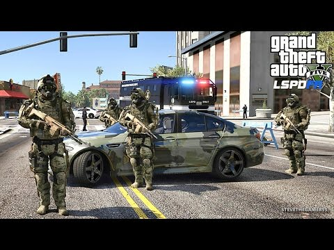 GTA 5 LSPDFR 0.3.1 - EPiSODE 376 - MILITARY/ SWAT PATROL (GTA 5 REAL LIFE POLICE MOD)