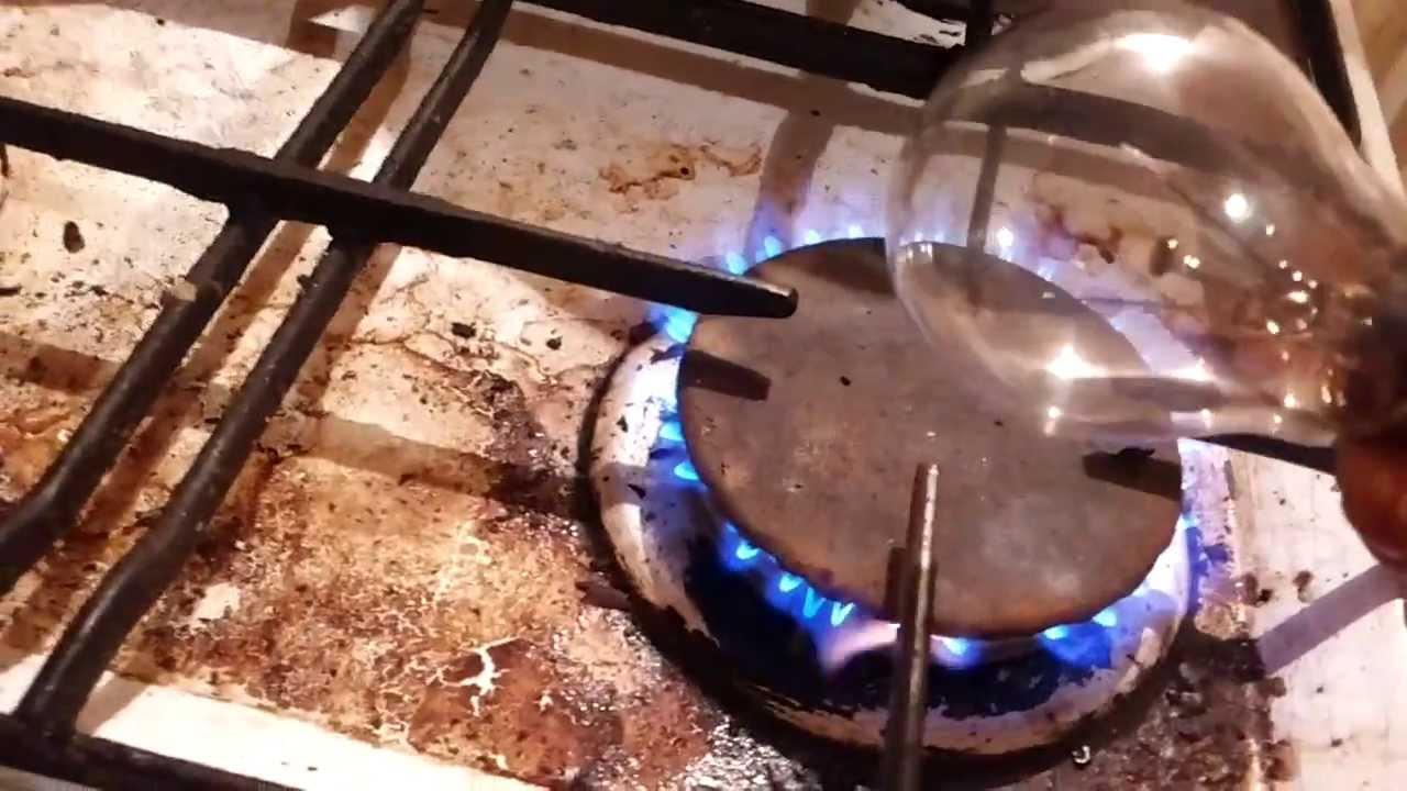 come forare il bulbo di una lampadina sul fornello - youtube