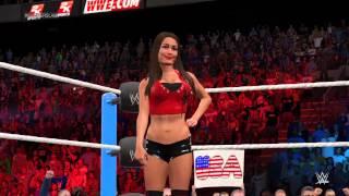 WWE 2K15 Nikki Bella(c) vs Cameron for the WWE Divas championship