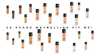 28 SHADE MAYBELLINE FIT ME FOUNDATION | MATTE+PORELESS FOUNDATION | DEWY+SMOOTH FOUNDATION | #4
