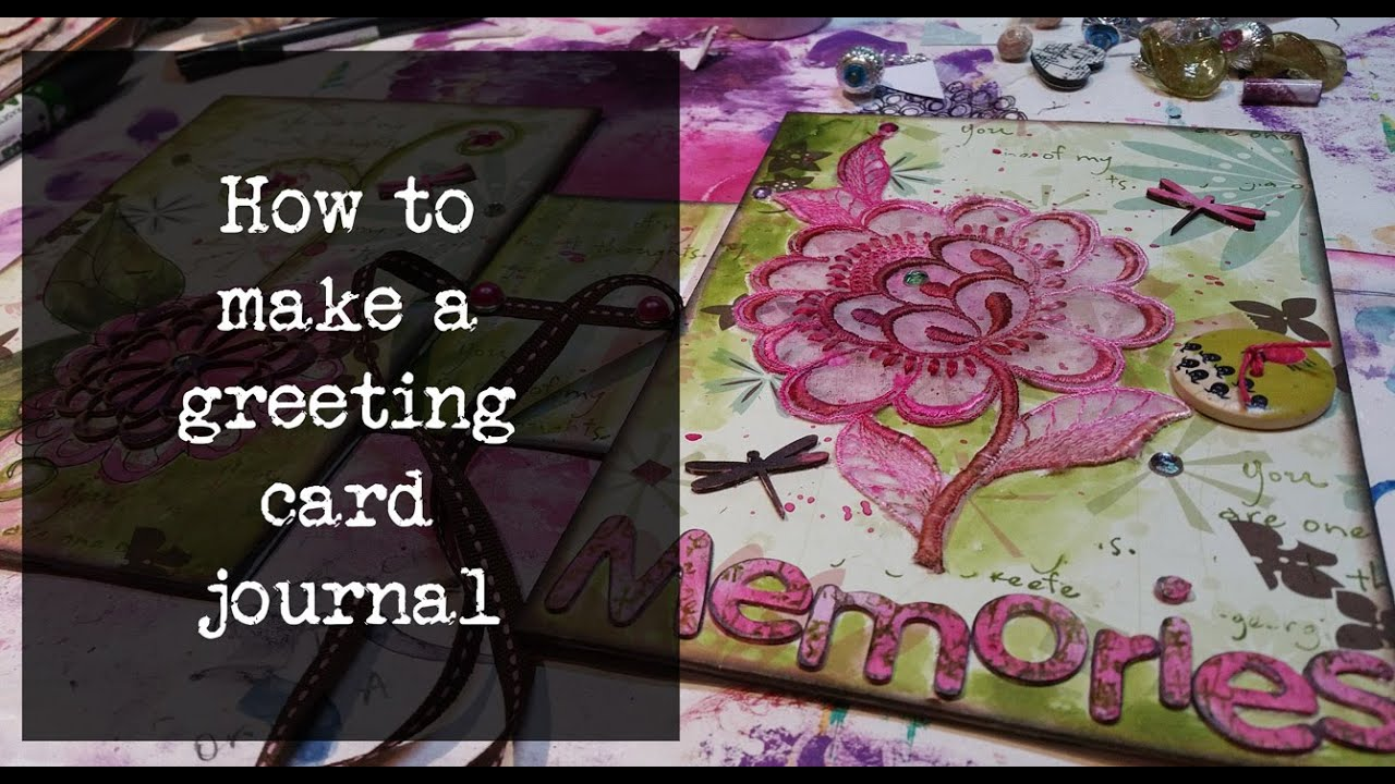 How to make a greeting card junk journal youtube how to make a greeting card junk journal kristyandbryce Gallery