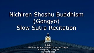 Nichiren Shoshu Gongyo - Sutra Recitation (OFFICIAL)