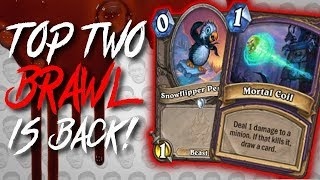 TOP TWO IS BACK! What's Trash This Time? - Tavern Brawl - The Witchwood