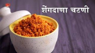 शेंगदाणा चटणी रेसिपी - Shengdana Chutney Recipe in Marathi - How To Make Peanut Garlic Chutney