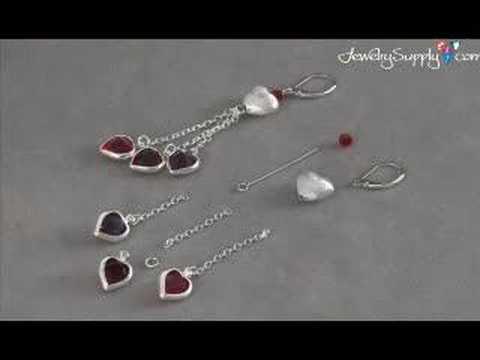 Valentine's Day Earrings E788 - Jewelry Making