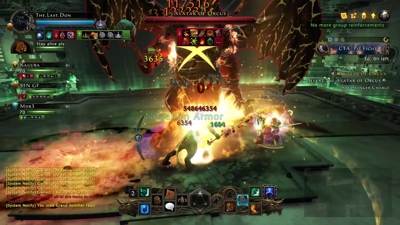Neverwinter 3 Man 1 Phased Orcus GF Mod 15 PS4