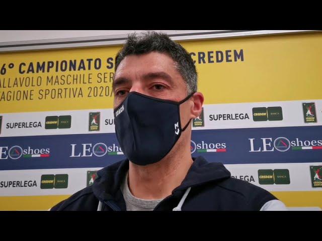 Coach Giani commenta la trasferta a Civitanova