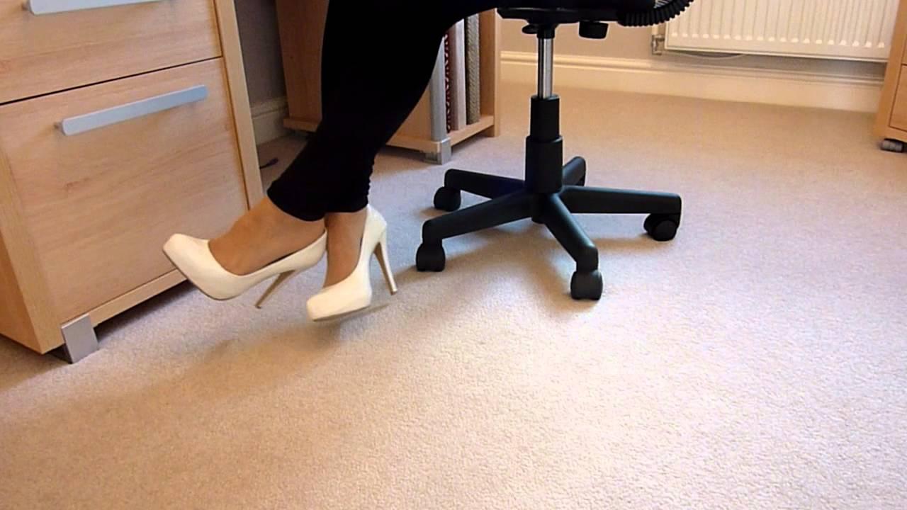 high heel chair dental dimensions white dangling - youtube