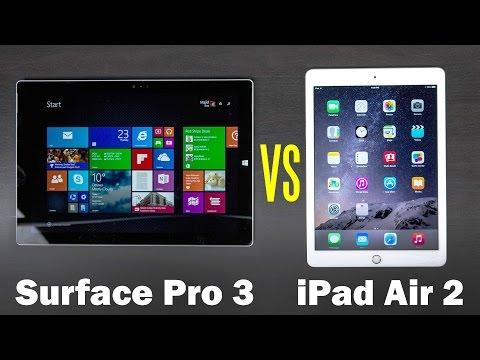iPad Air 2 Vs Microsoft Surface Pro 3 Feature Comparison