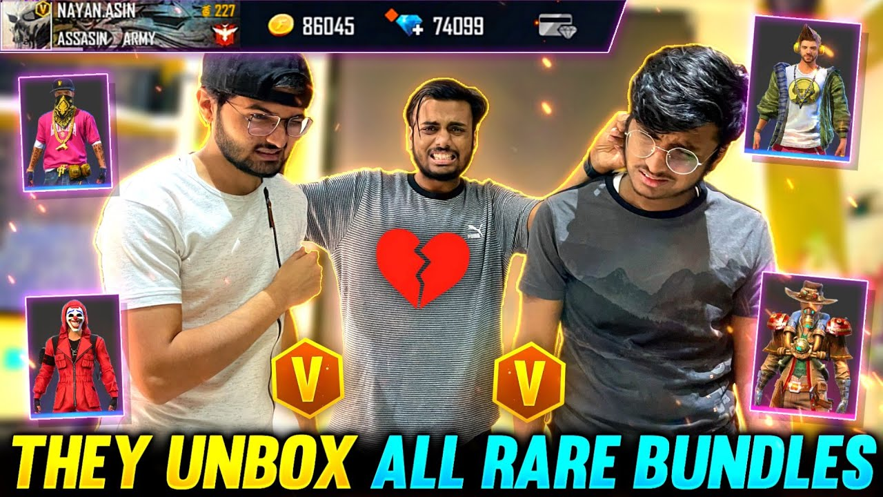 They Unbox All Rare Bundles From My Id 😭 Artic Blue Rip Rare Bundles 😱 - Garena Free Fire