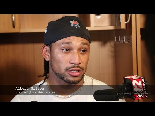Video Miami Dolphins wide receiver Albert Wilson speaking after game against Chicago Bears