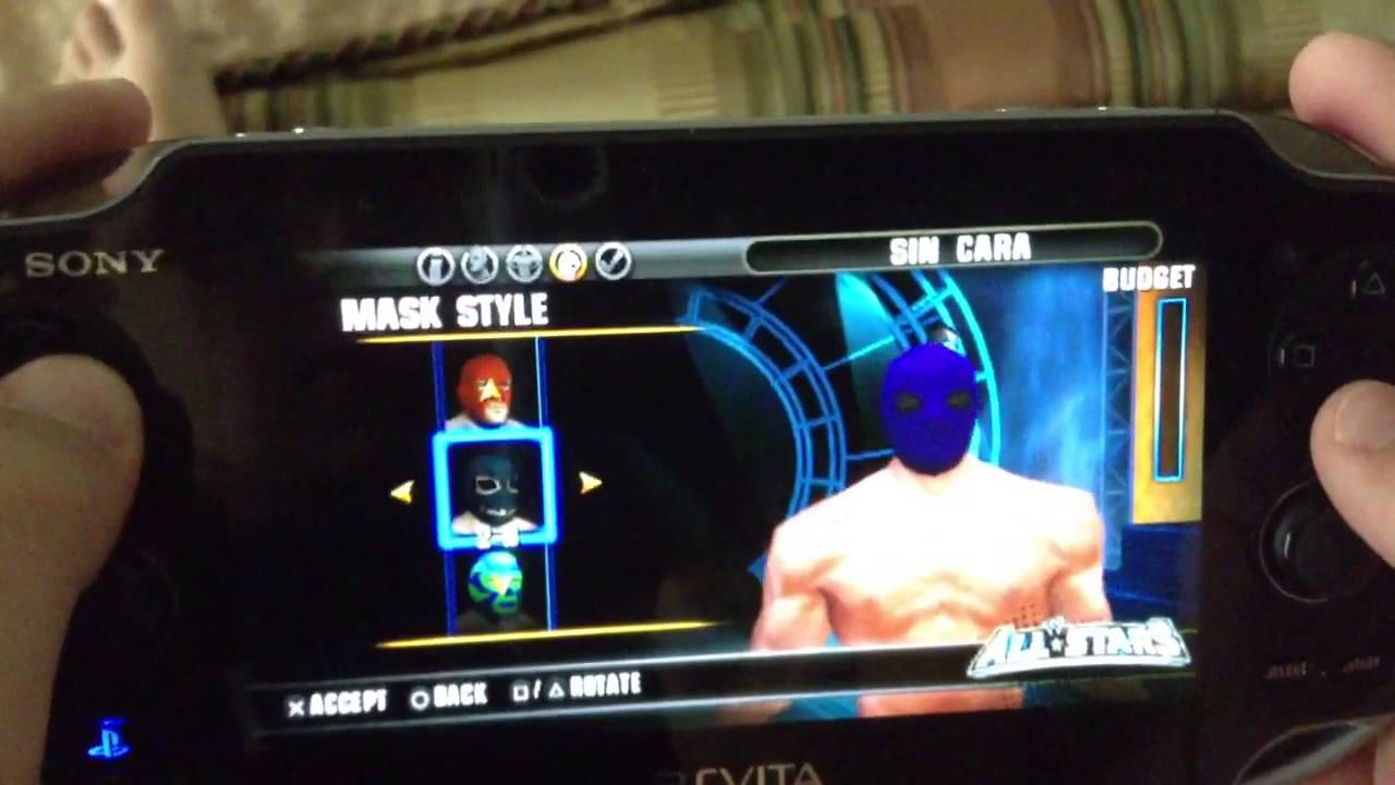 how to make sin cara in wwe allstars for the ps vita youtube