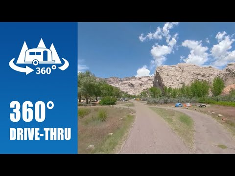 Split Mountain Campground | Dinosaur National Monument – 360° Drive-thru