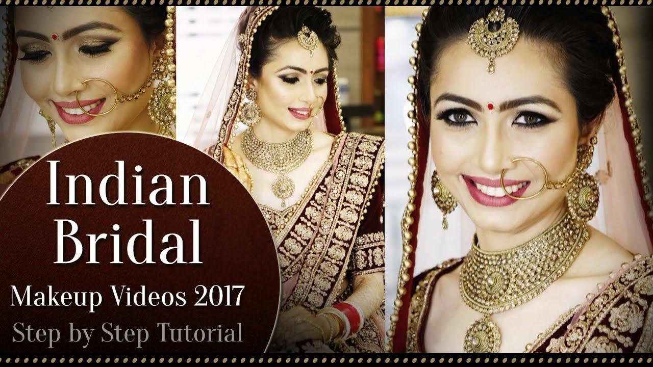 north indian bridal makeup tutorial video | step by step bridal makeup  tutorial | krushhh by konica