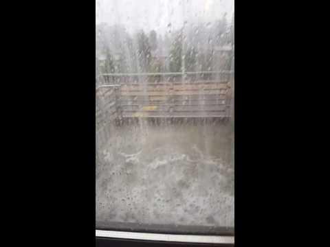 Torrential rain storm hits Lynnwood High School