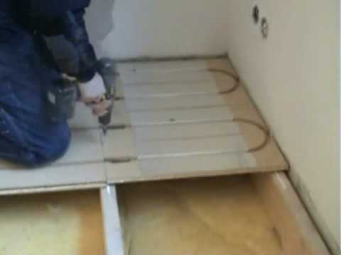 Lk Wood 22 Underfloor Heating Install Demo Youtube