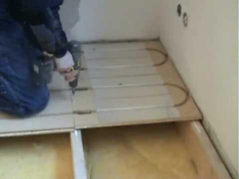 LK Wood 22 Underfloor Heating Install Demo - YouTube