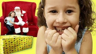 Valentina a menina que ganhou um presente de Natal do Papai Noel?
