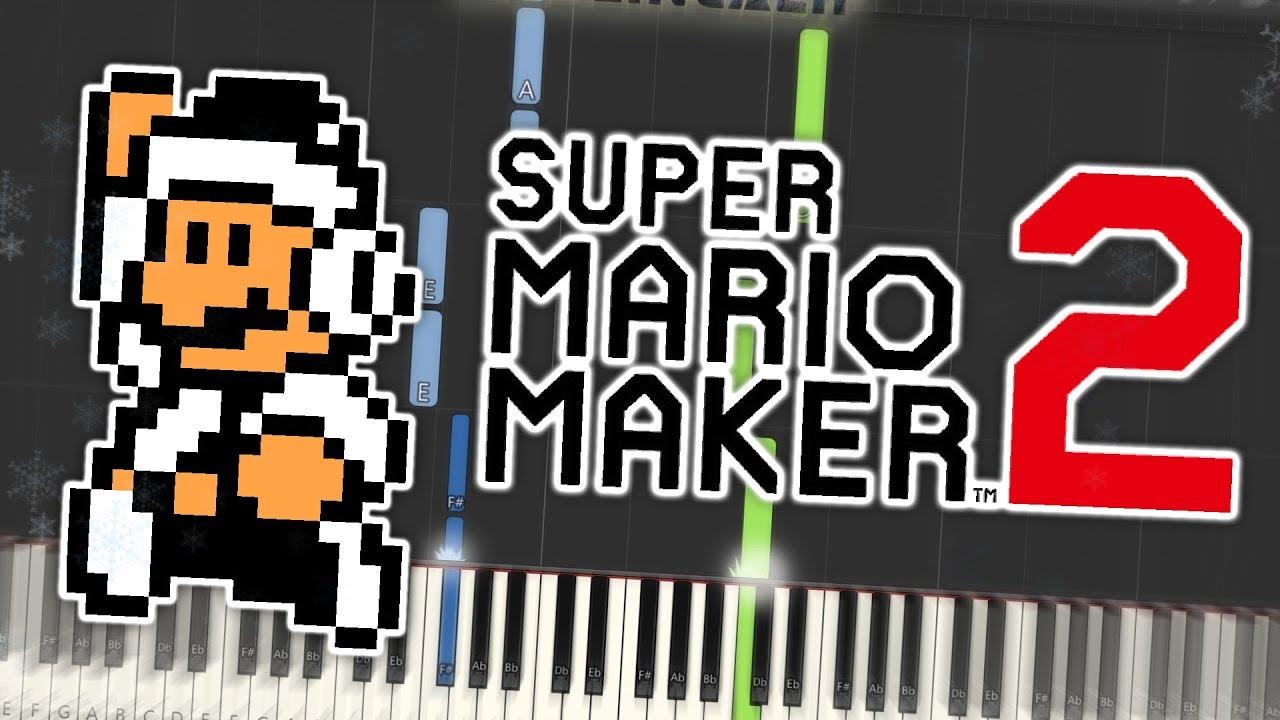 Super Mario Maker 2 - Snow (Super Mario Bros  3) Theme Piano Tutorial  Synthesia