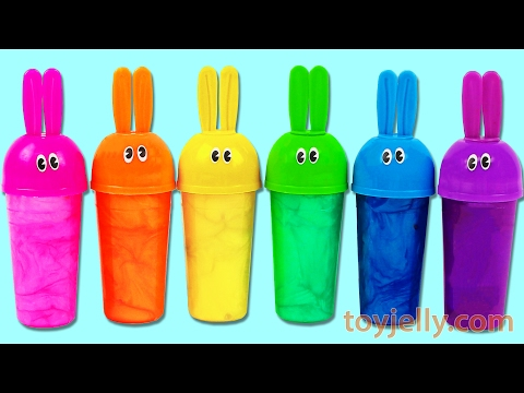 Thumbnail: Learn Colors Popsicle Ice Cream Bunny Molds Slime Clay Surprise Toy Play Doh Peppa Pig Cookie Cutter