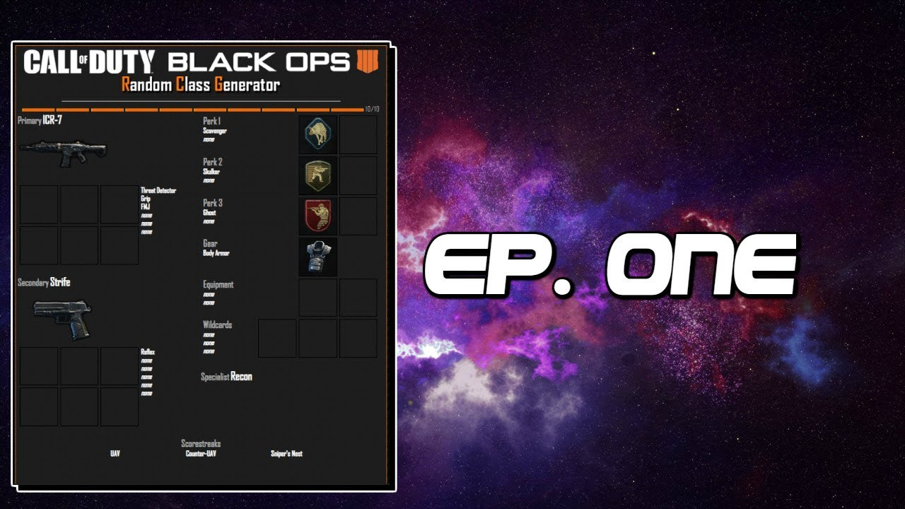 Random Class Generator! Ep  1 (Call of Duty Black Ops 4)