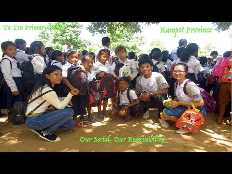 Visit and Bring School Supplies to Children at Ta Ten Primary School in Kampot Province in Cambodia