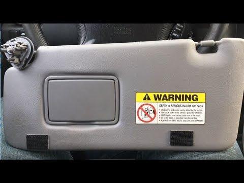 Honda CRV How To Replace Sun Visor Fix 2004 CR-V - YouTube d7de473fbe4
