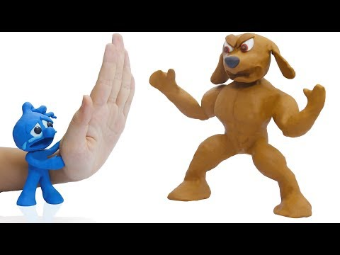 CLAY MIXER PET CARE GIGANTIC RETRIEVER DOG 💖 Play Doh Cartoons Stop Motion