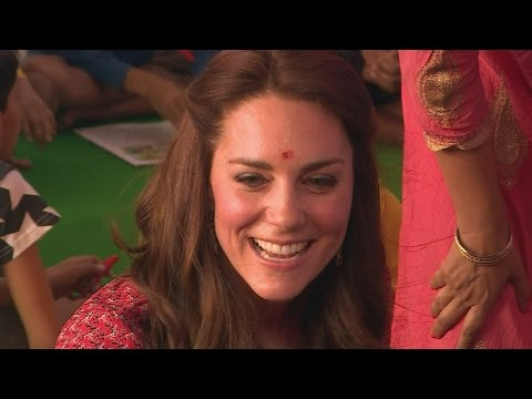 William and Kate meet street kids in New Delhi