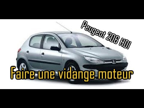 comment faire une vidange moteur sur peugeot 206 hdi youtube. Black Bedroom Furniture Sets. Home Design Ideas