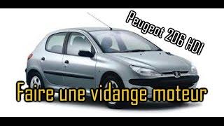 Comment faire une vidange moteur sur Peugeot 206 hdi