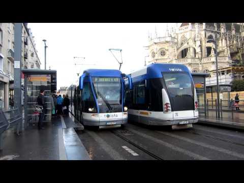 [Caen] Tramway sur pneu Twisto - Saint-Pierre