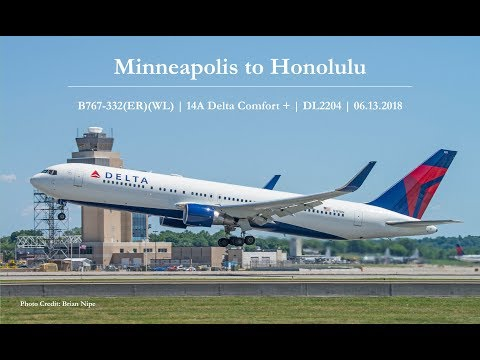 My First Flight to Hawaii | Minneapolis - Honolulu | 06.13.2018