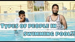 Types of people at swimming pool || Funny video || Nizambad diaries