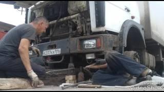 #6  ремонт передней подвески! Металл не выдержал. Маз 6303