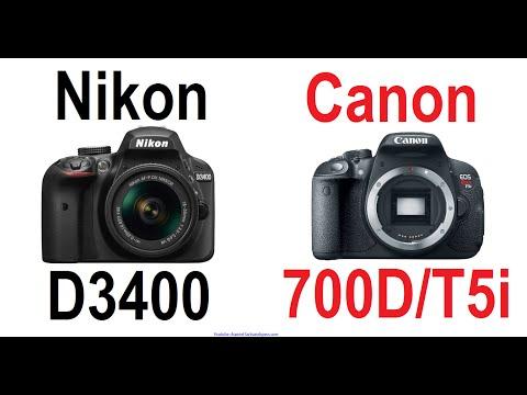 Nikon D3400 vs Canon EOS 700D / Rebel T5i / Kiss X7i