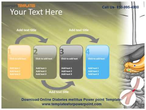 online diabetes mellitus powerpoint template - youtube, Modern powerpoint
