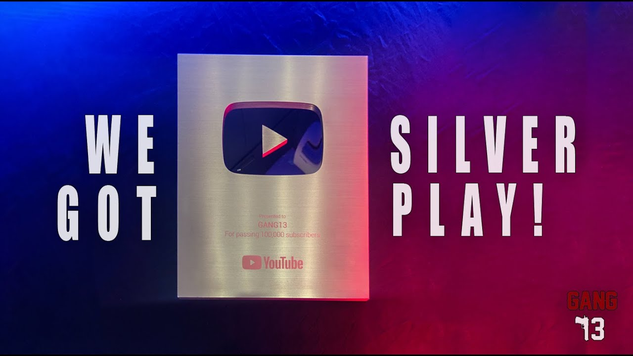 We Got Silver Play Button !!!!! GANG13 #silverplay #gang13