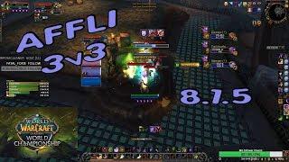 Affliction Warlock ARENA 3v3 /  BfA Season 2
