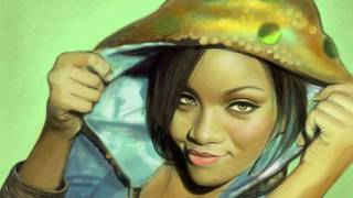 Rihanna: iPad finger painting by Olechka (Olga Shvartsur)