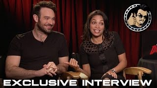 Charlie Cox and Rosario Dawson Interview - Daredevil (HD) Marvel, Netflix, 2015