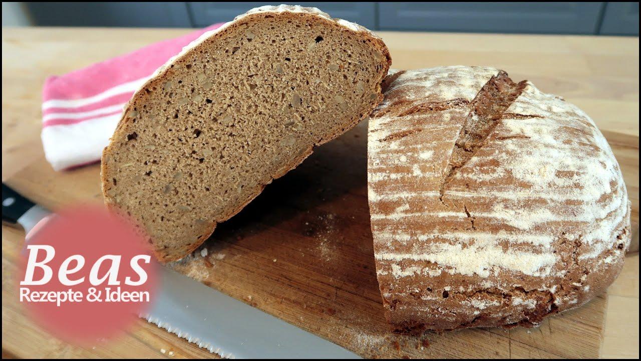 Roggenmischbrot Rezept  Brot backen  Mit Sauerteig selber machen