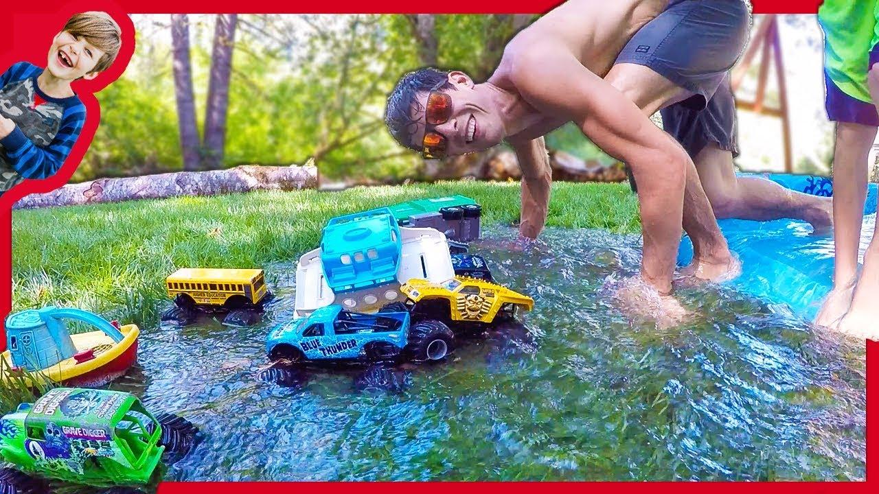 Monster Trucks Backyard Waterpark Youtube