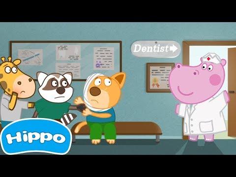 Hippo 🌼 Hospital: Dentist 🌼 Cartoon Game For Kids