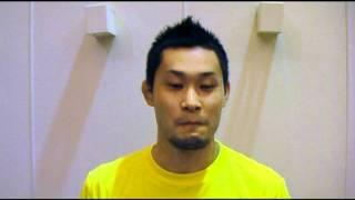 道場所属の現役ファイター斎藤正臣選手。現在は日々の練習とともに道場...