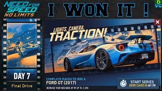 NFS No Limits | Lights, Camera, Traction - Special Event | Ford GT 2017 - Day 7 - Winning the car !