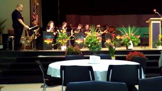 Middle School Jazz Band ~ Playing at Restoration of Hope Fundraiser Banquet